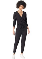 Chaser Cozy Knit Long Sleeve Surplice Jumpsuit