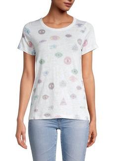 Chaser Flouncy Printed Linen-Blend T-Shirt