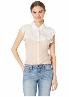Chaser Flutter Sleeve Button Down Shirt