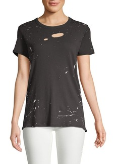 Chaser Gauzy Distressed Cotton Tee