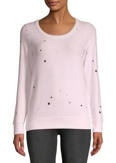 Chaser Glitter Stars Long Sleeve Top