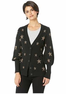 Chaser Gold Star Bishop Sleeve Button Down Cardigan