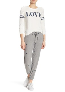 Chaser Heart Print Lounge Pants