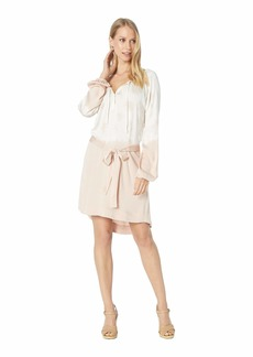 Chaser Heirloom Wovens High-Low Shirttail Dress with Belt