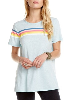 Chaser Lightning-Embroidered Retro-Stripe Tee