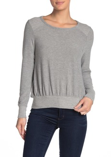 Chaser Long Sleeve Cropped Reverse Panel Pullover