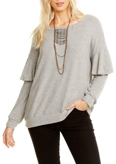 Chaser Love Dolman-Sleeve Ruffle Top