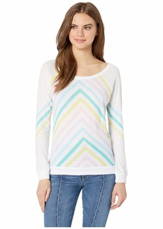 Chaser Pastel Sun Rays Gauzy Cotton Pullover