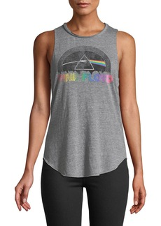 Chaser Pink Floyd Dark Side of the Moon Rainbow Prism Band Tank