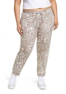 Plus Size Women's Chaser Cotton & Linen Joggers