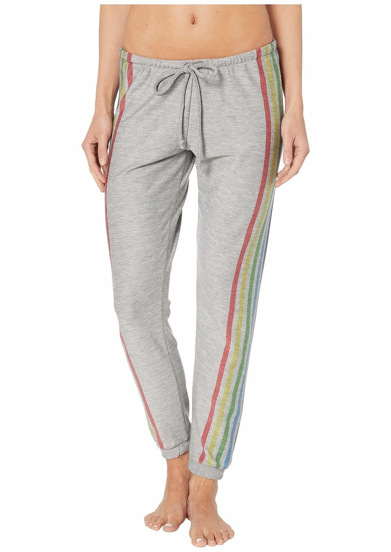 """Chaser """"Rainbow Stripes"""" Cozy Knit Lounge Pants"""
