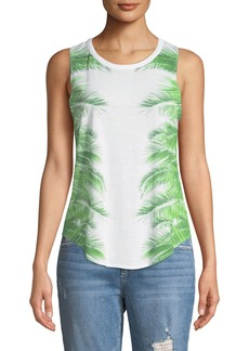 Chaser Reflected Palms Crisscross-Back Tank