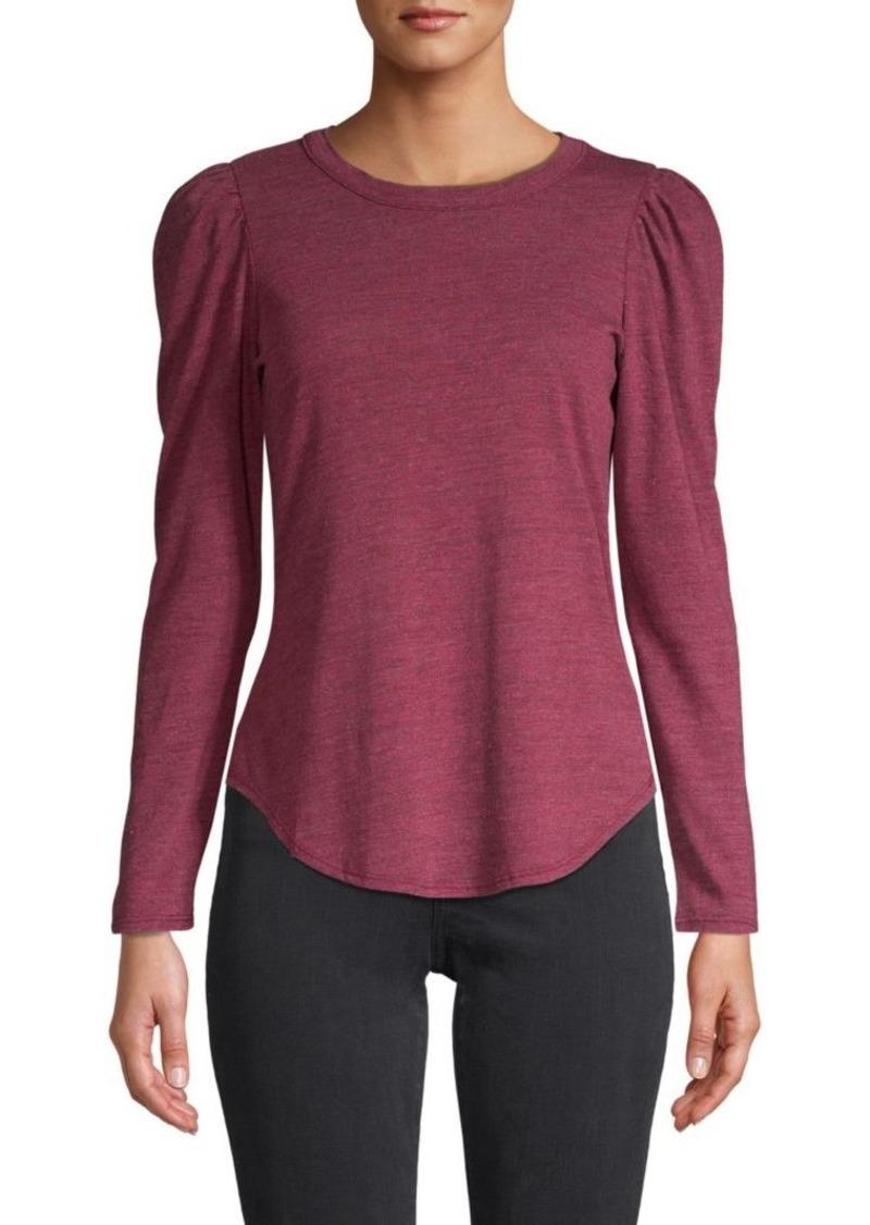 Chaser Shirttail-Hem Long-Sleeve Top