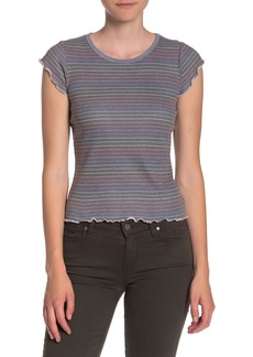 Chaser Striped Lettuce Edge Crop T-Shirt