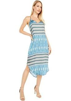 Chaser Silky Basics V-Neck Shirttail Midi Dress