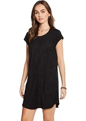 Chaser Stretch Faux Suede Cap Sleeve Shift Dress