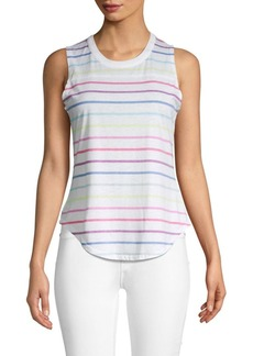 Chaser Striped Cotton-Blend Tank Top