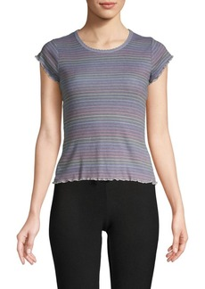 Chaser Striped Cotton Blend Tee