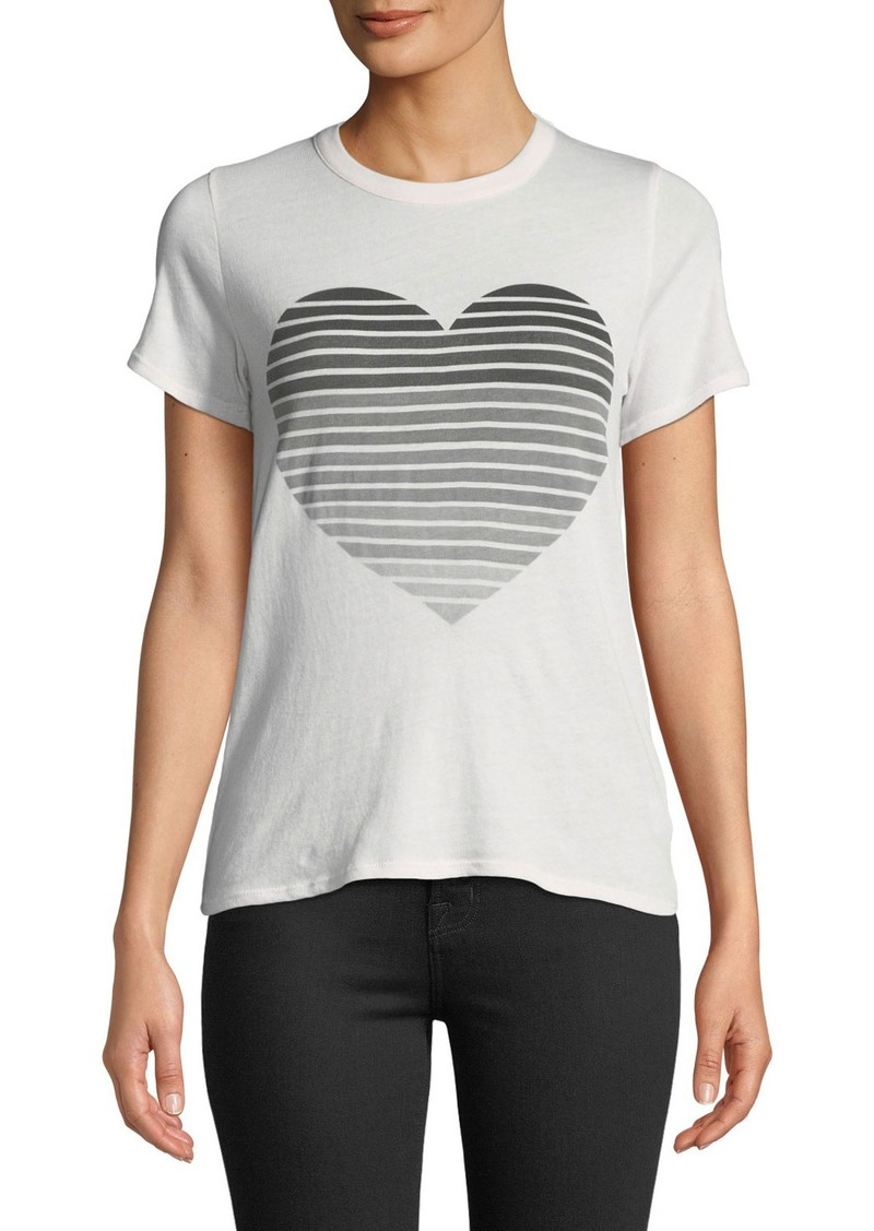 5b9242842 On Sale today! Chaser Striped Heart Graphic Tee