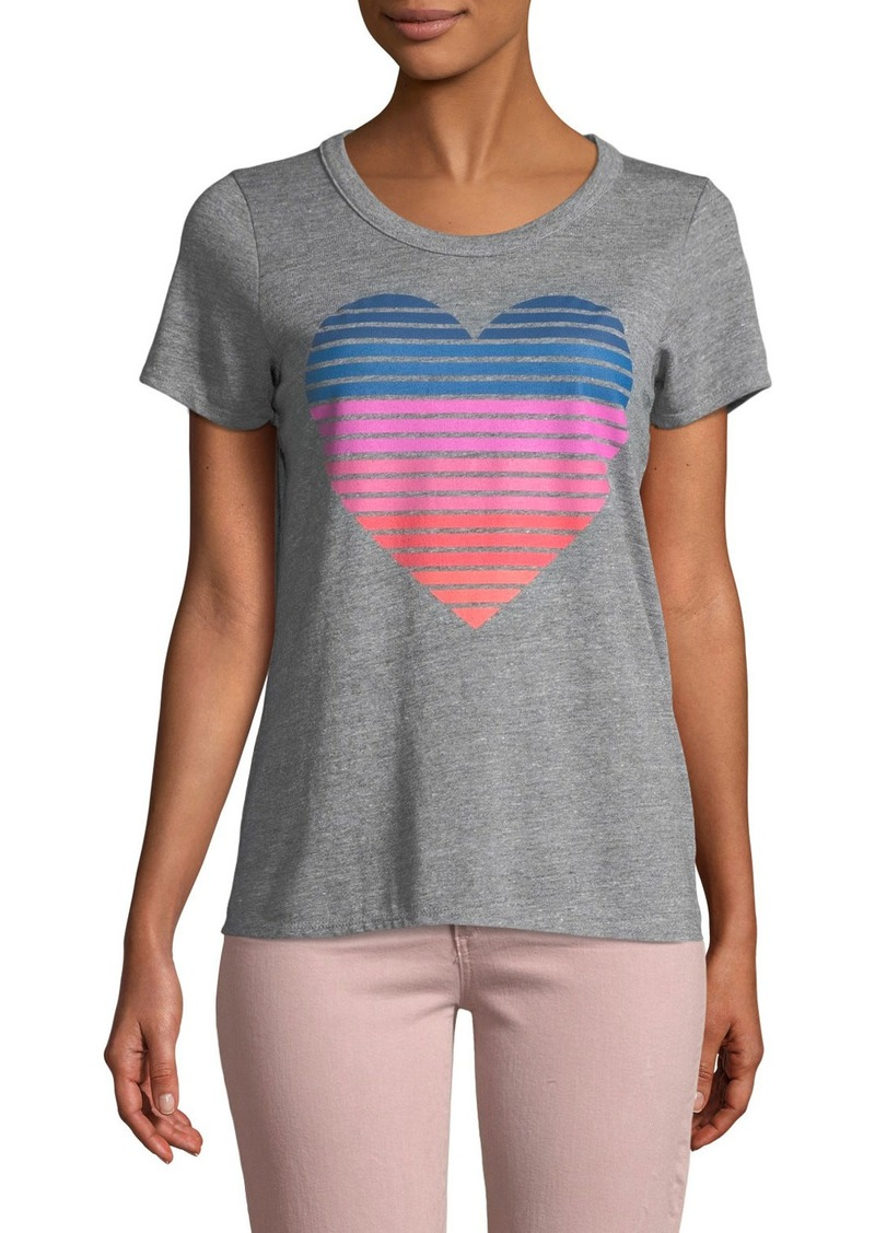 68cad22f2 On Sale today! Chaser Striped-Heart Graphic Tee