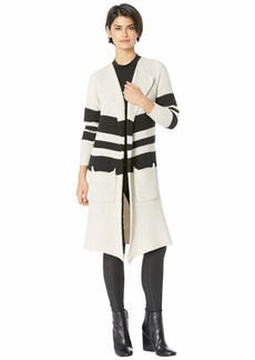 Chaser Striped Open Front Duster w/ Pockets