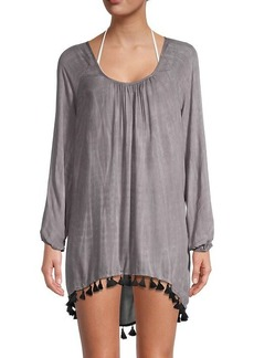 Chaser Tie-Dyed Babydoll Coverup Dress
