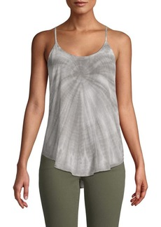 Chaser Tie-Dyed Strappy Silk Camisole