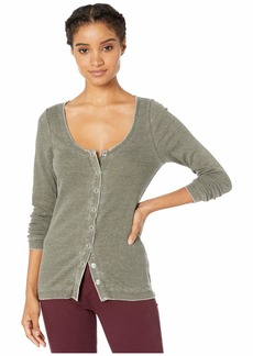 Chaser Vintage Rib Snap Front Top