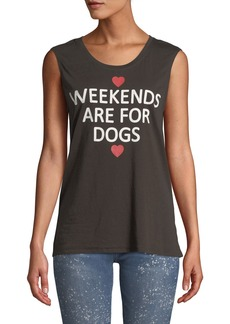 Chaser Weekends Are For Dogs Muscle Tee