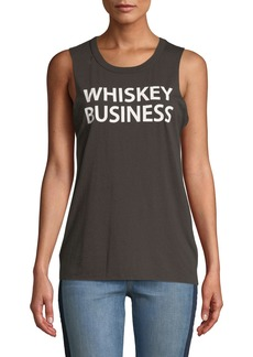 Chaser Whiskey Business Slogan Muscle Tank