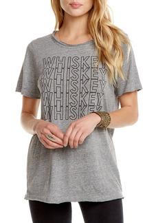Chaser Whiskey Typographic Crewneck Tee