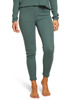 Women's Chaser Heritage Lace Trim Thermal Leggings
