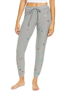 Women's Chaser Women's Cozy Knit Embroidered Lounge Joggers