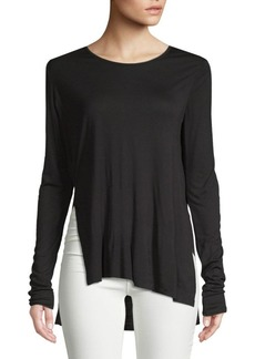 Cheap Monday Asymmetrical Side Slit Top