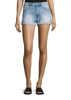 Cheap Monday Donna Distressed Faded Shorts
