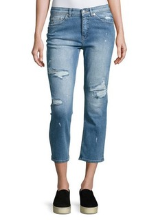 Cheap Monday Level Distressed Cropped Jeans
