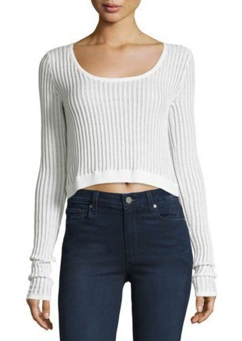 Cheap Monday Cheap Monday Ribbed Long-Sleeve Crop Top | Casual ...