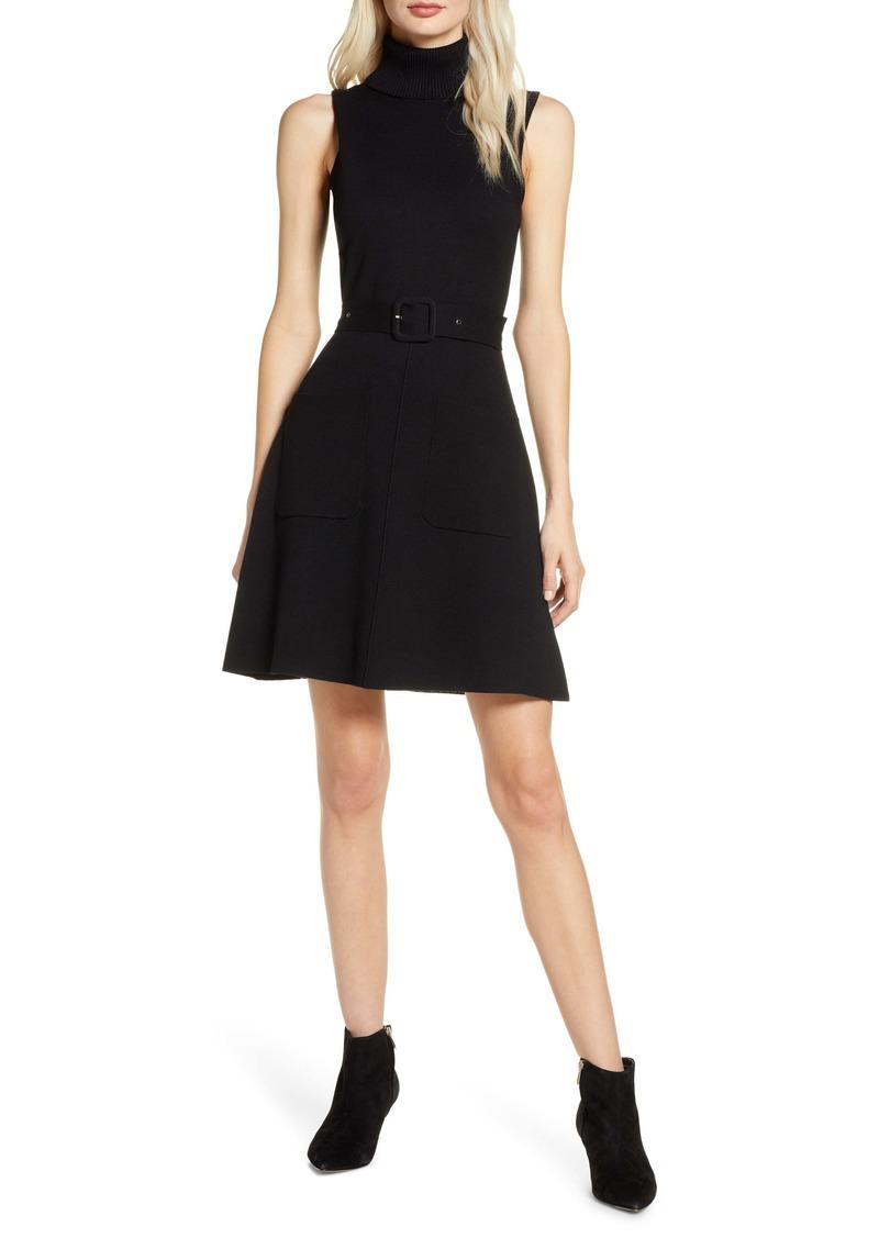 Chelsea28 Belted Turtleneck Dress