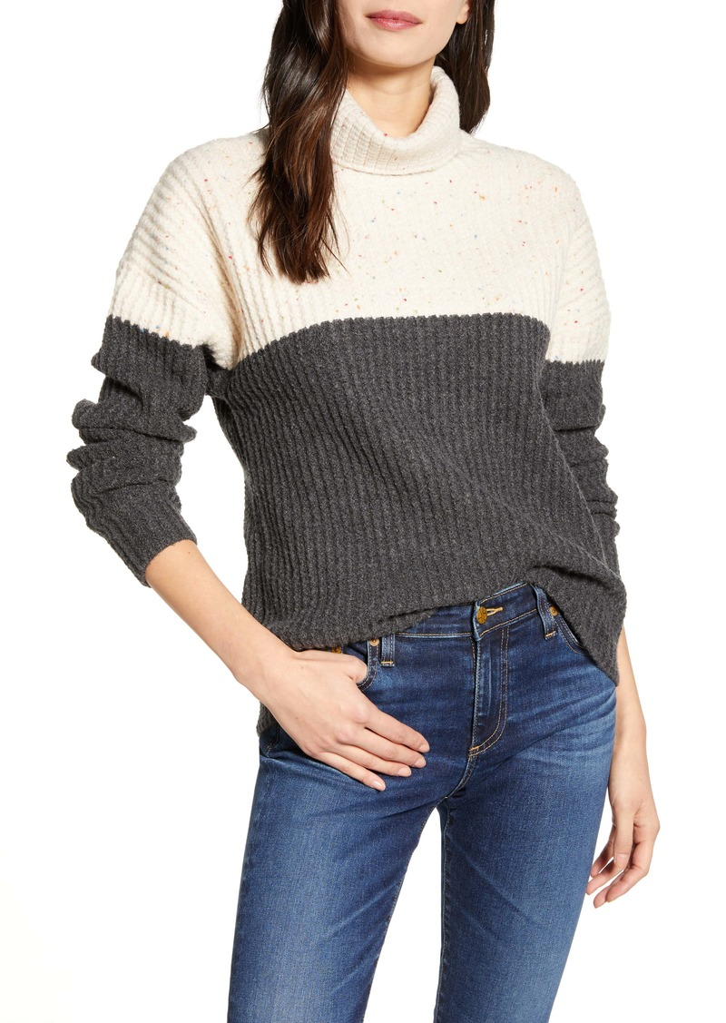 Chelsea28 Colorblock Turtleneck Sweater