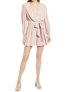 Chelsea28 Crepe Long Sleeve Minidress