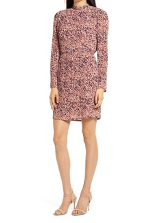 Chelsea28 Floral Pleated Long Sleeve Dress