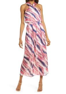 Chelsea28 Halter Chiffon Maxi Dress