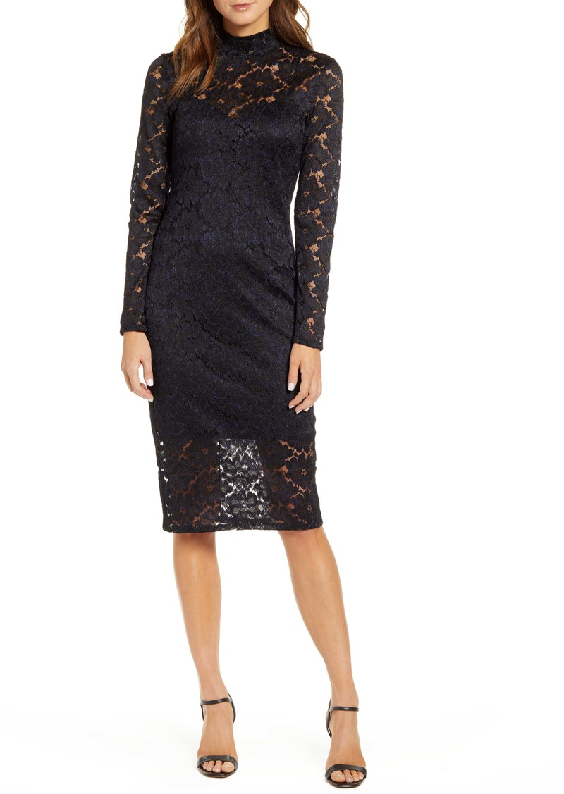 Chelsea28 Long Sleeve Lace Sheath Dress