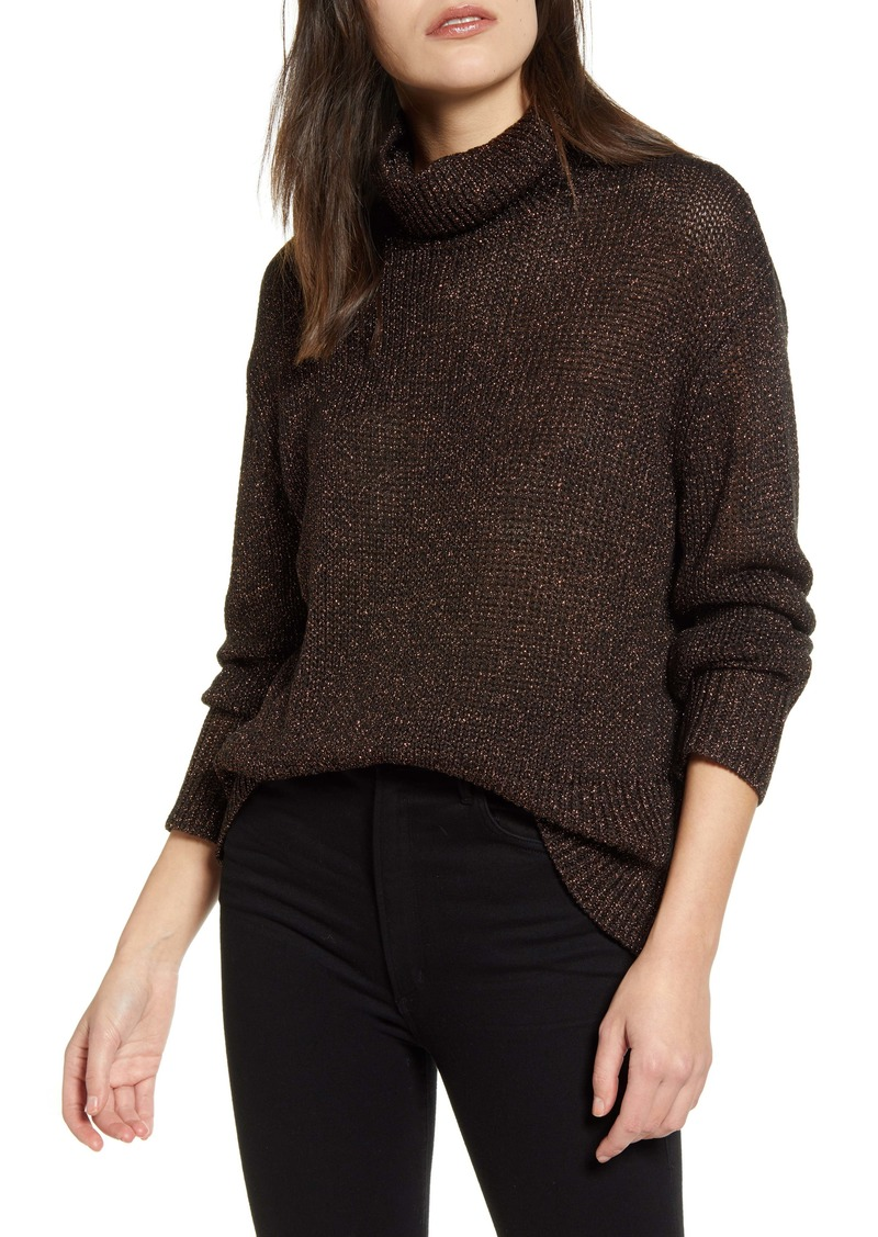 Chelsea28 Metallic Turtleneck Sweater