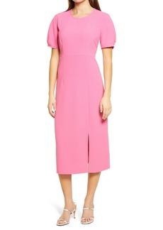 Chelsea28 Pleat Sleeve Midi Dress