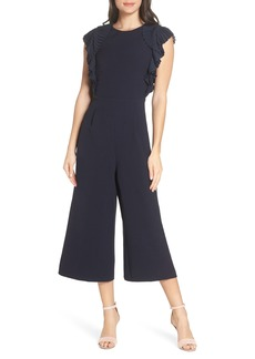 Chelsea28 Pleated Shoulder Crop Jumpsuit (Regular & Petite)