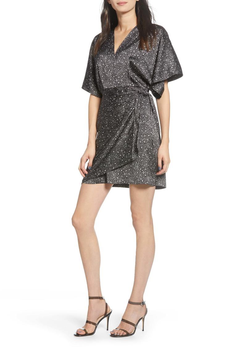 Chelsea28 Print Satin Wrap Dress