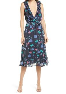 Chelsea28 Ruffle Trim Chiffon Dress