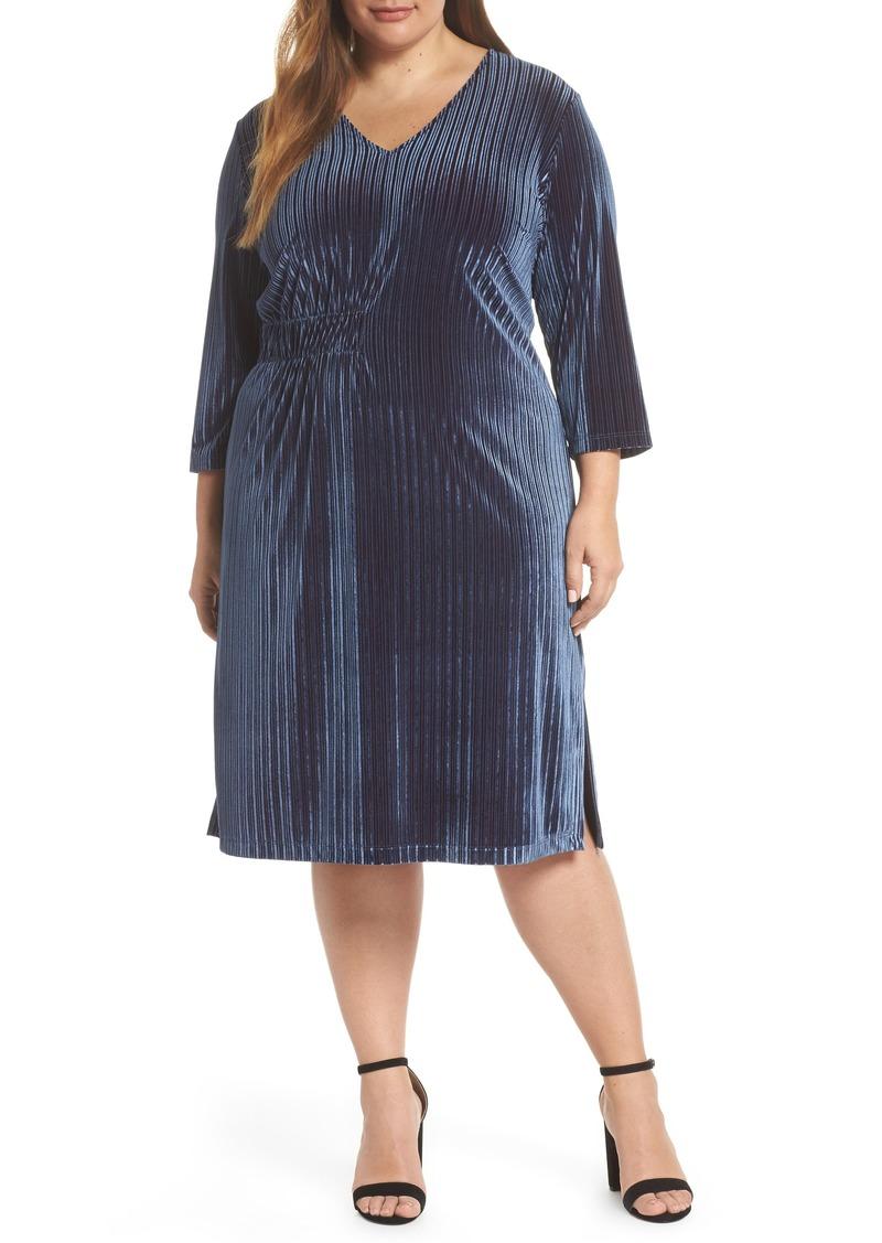 Stripe Velvet Dress (Plus Size)
