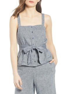 Chelsea28 Sleeveless Button Front Top
